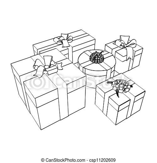 disegni, pacchetti, regalo - csp11202609