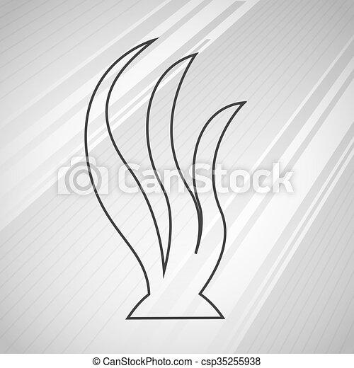 Disegno Alghe Icona Grafico Eps10 Illustrazione Disegno