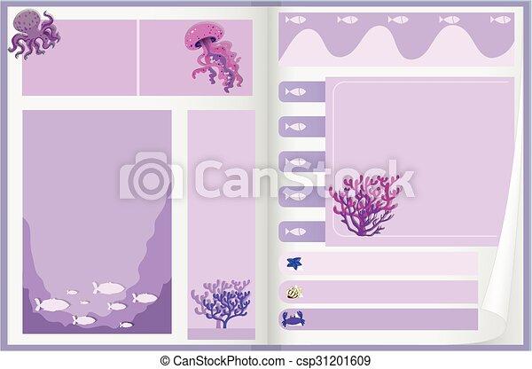 Disegno carta animali mare illustrazione for Mare clipart