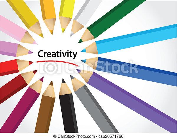 disegno, colori, creatività, illustrazione - csp20571766