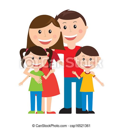 disegno, famiglia - csp16521361
