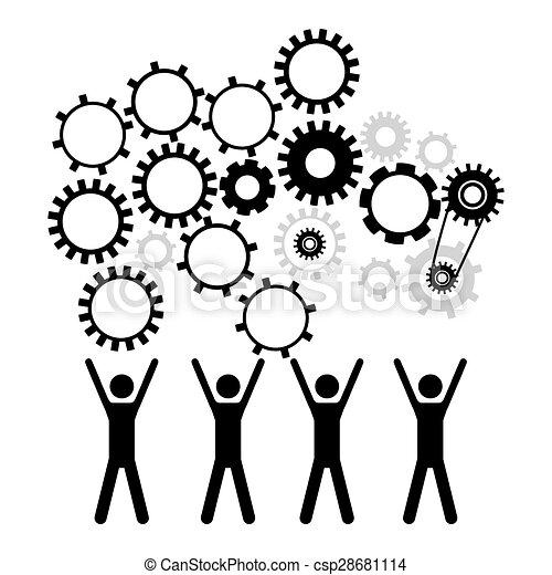disegno, forza lavoro - csp28681114