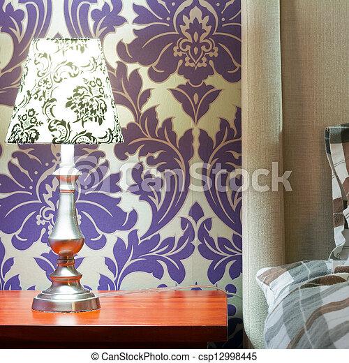 disegno interno, camera letto - csp12998445
