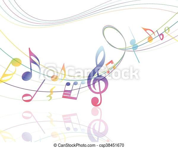 disegno, musicale - csp38451670
