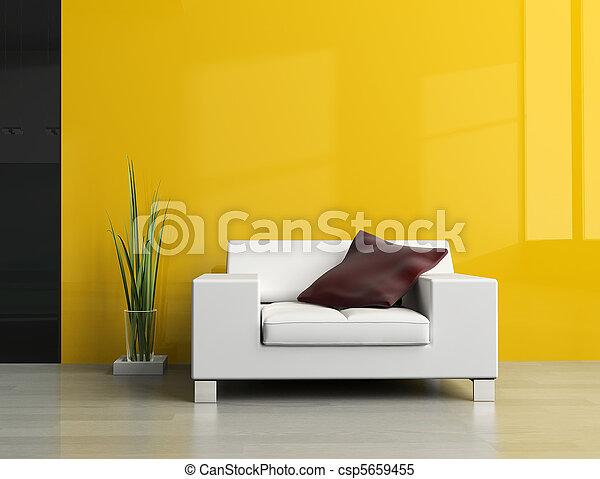 Disegno stanza stanza divano immagine bianco disegno for Divano disegno