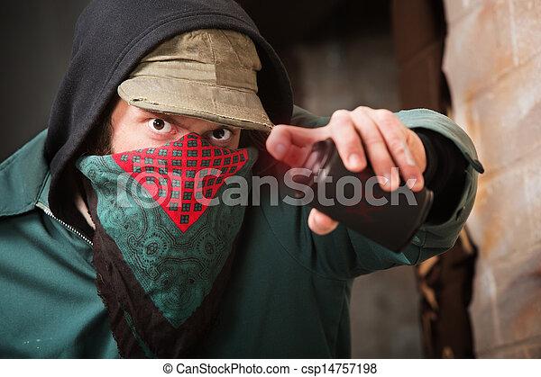 Disguised Spray Paint Vandal - csp14757198