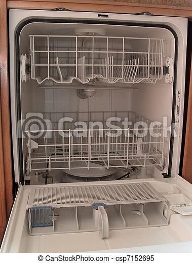Dish Washer Empty Dishwasher Waser Dishes Cleaner White