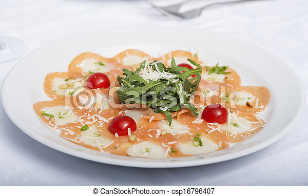 dish with red salted fish - csp16796407