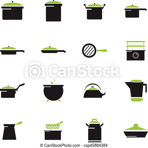 Dishes icons set - csp45884384