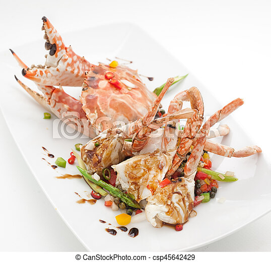 Dishes of Thailand and China international cuisine in the restaurant