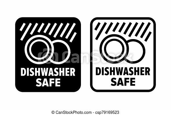 """""""dishwasher, safe"""", haute température, détergents - csp79169523"""