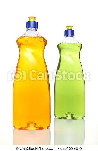 dishwashing, colorito, bottiglie, due, liquido - csp1299679