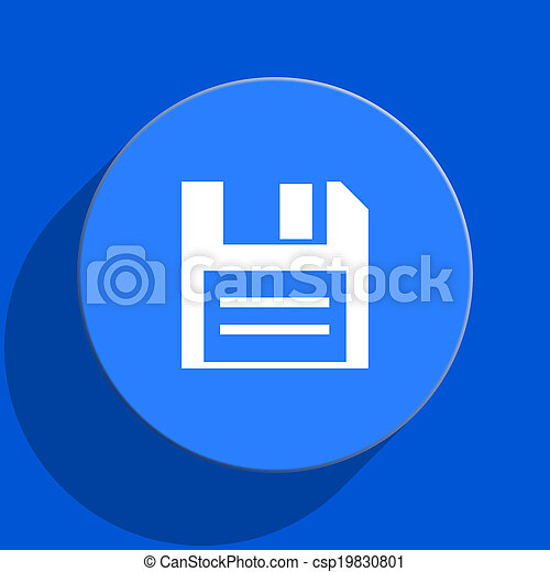 disk blue web flat icon - csp19830801