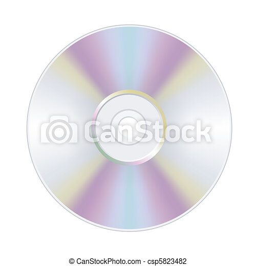 disk dvd cd isolated  - csp5823482
