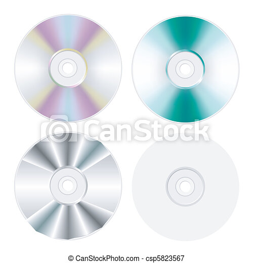 disk, dvd, cd isolated set - csp5823567