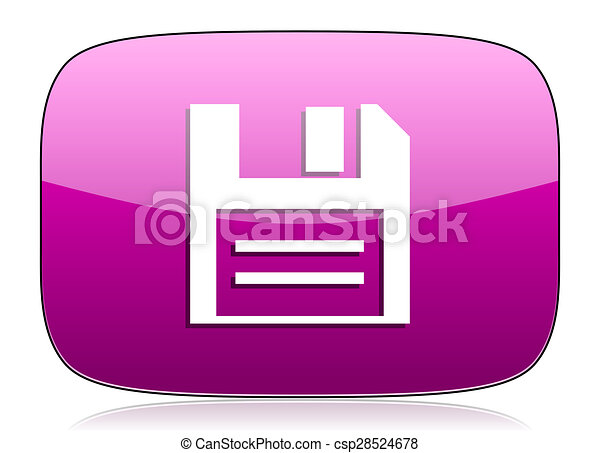 disk violet icon data sign - csp28524678