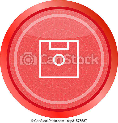 disk web button (icon) isolated on white - csp81578587
