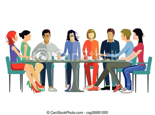 Diskussion mannschaft vektor clipart suche illustration for Meine wohnung click design free