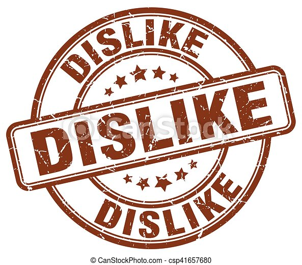 dislike brown grunge stamp - csp41657680