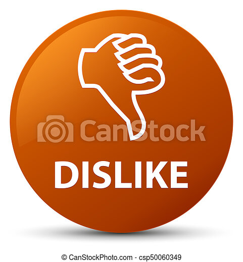 Dislike brown round button - csp50060349
