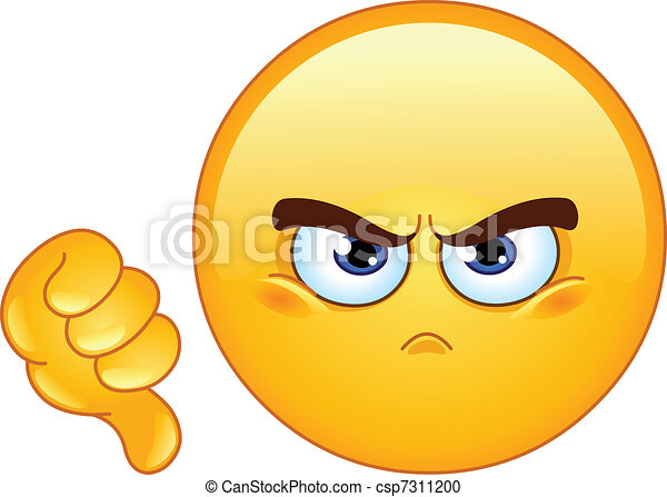 Dislike emoticon - csp7311200