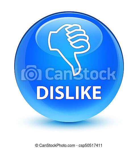 Dislike glassy cyan blue round button - csp50517411