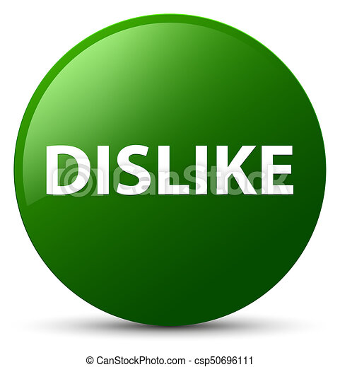 Dislike green round button - csp50696111