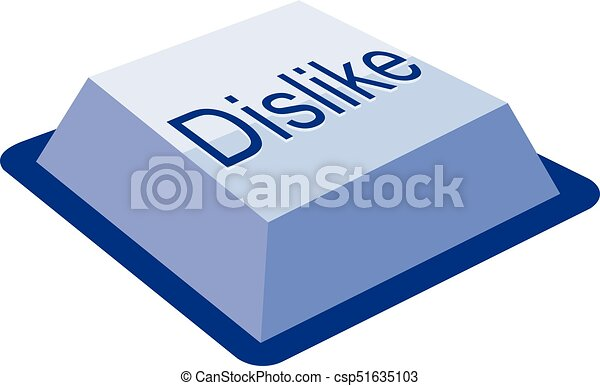 dislike keyboard button - csp51635103
