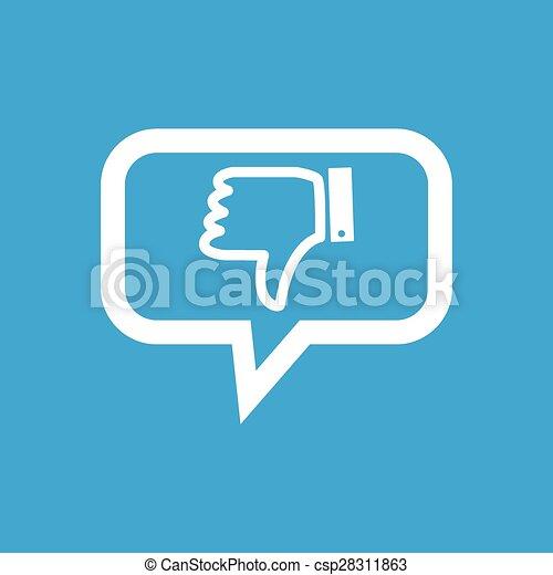 Dislike Message Icon Dislike Symbol In Chat Bubble Clip Art
