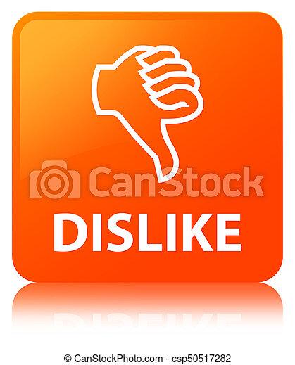 Dislike orange square button - csp50517282