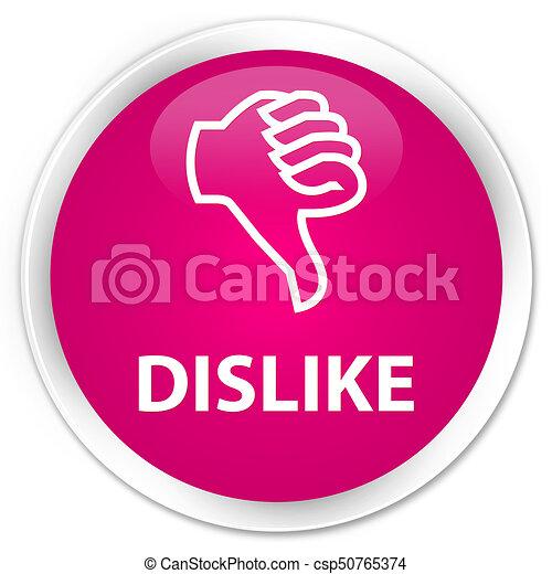 Dislike premium pink round button - csp50765374
