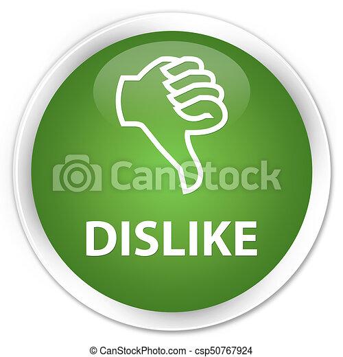 Dislike premium soft green round button - csp50767924