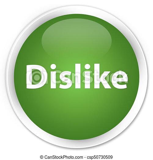 Dislike premium soft green round button - csp50730509