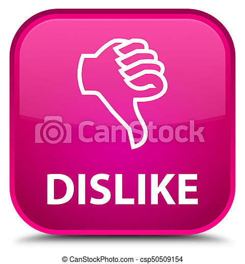 Dislike special pink square button - csp50509154