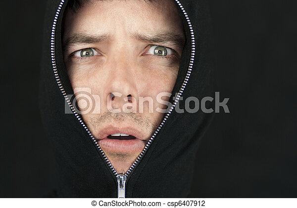 Dismayed Man Looks To Camera - csp6407912
