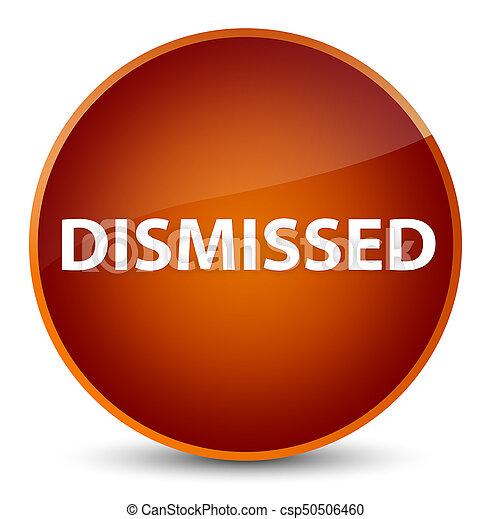 Dismissed elegant brown round button - csp50506460