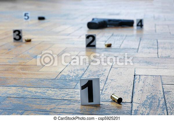 Lugar del tiroteo - csp5925201
