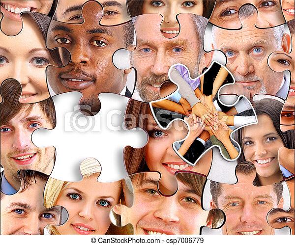 disparu, résumé, une, fond, morceau, puzzle - csp7006779