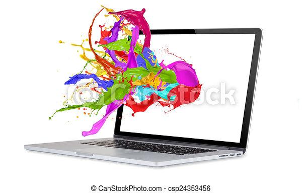 Computeranzeige. - csp24353456