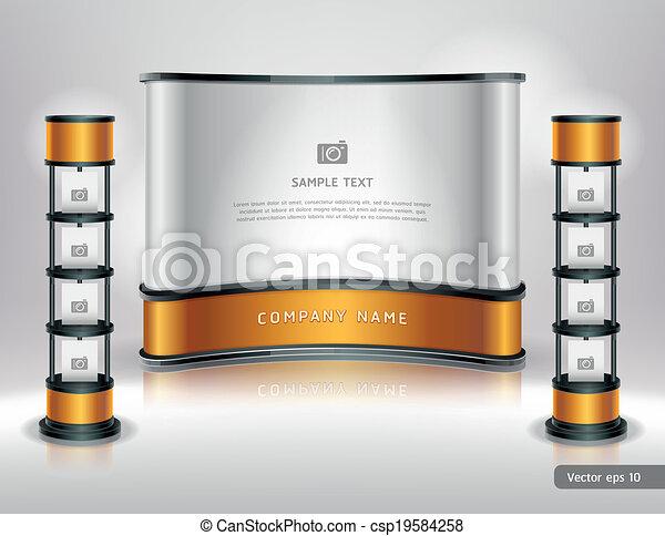 display., handel, stander, tentoonstelling - csp19584258