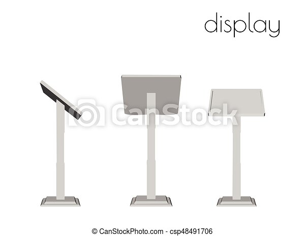 display silhouette on white background - csp48491706