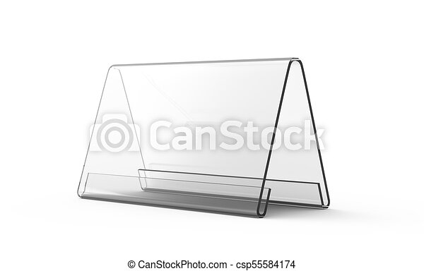 Display Stand Or Acrylic Table Tent D Render Transparent Stand - Acrylic table tents