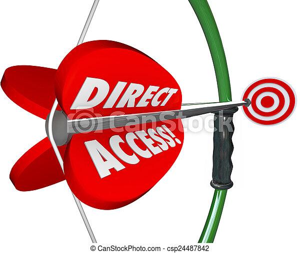 disponible, accessible, cible, conv, direct, arc, accès, service, flèche - csp24487842