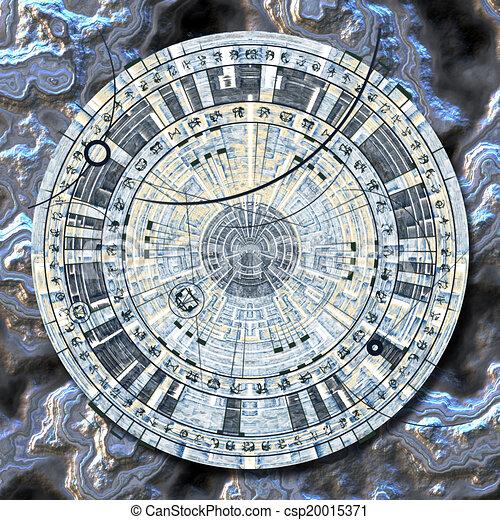 disque, astrologique - csp20015371