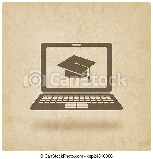 distance online learning symbol - csp24510066