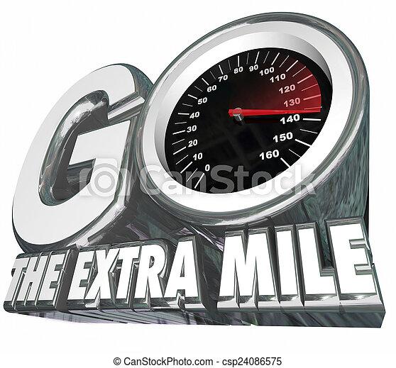 Ve al velocímetro de milla extra resultados adicionales de distancia de esfuerzo - csp24086575