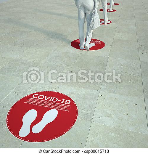 distancing, social, cola - csp80615713