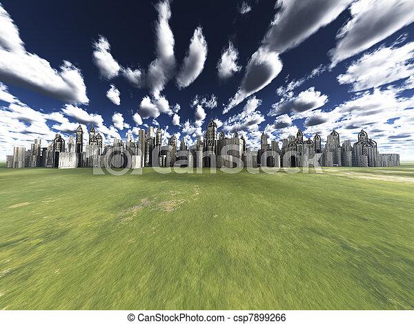 distant city - csp7899266