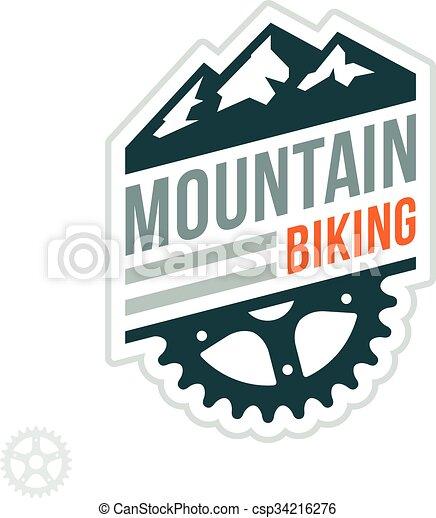distintivo, biking, montagna - csp34216276