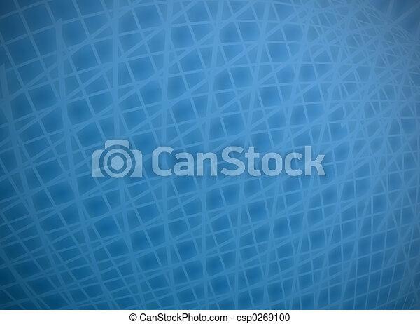 Distorted blue grid - csp0269100
